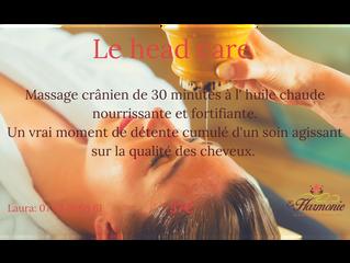 Le massage crânien à l'huile chaude