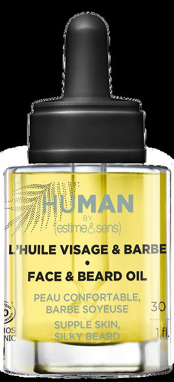 L'huile visage et barbe pour homme