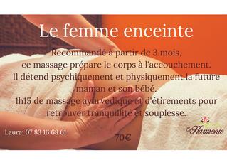 Le massage femme enceinte