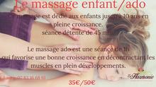 Le massage enfant et ado