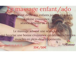 Le massage Enfant