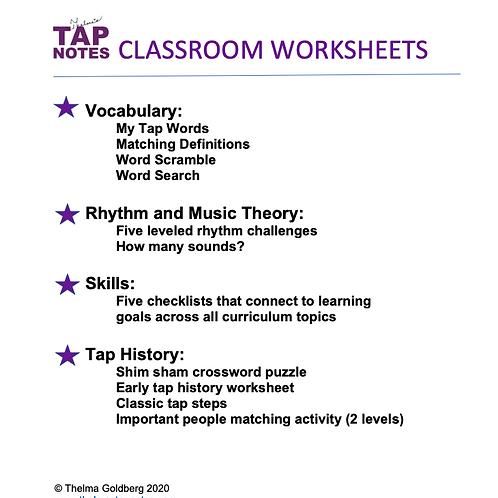 Classroom Worksheets-Digital Download