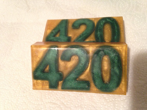 Cannabis Scent 420 Gold Bars w/ Hemp Oil
