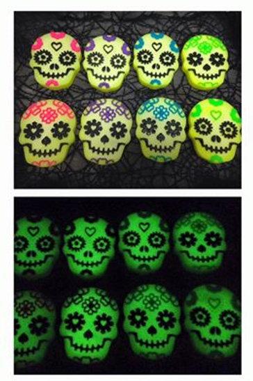 Glow In The Dark Sugar Skull Soaps - Scented In Fruit Blast