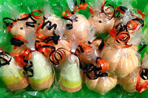 Candy Corn Scented Bath Bombs