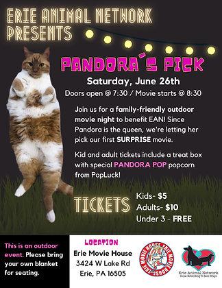 EAN Pandora's Pick Movie Night (Child Ticket)