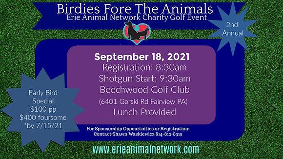 Birdies Fore The Animals- Single Golfer