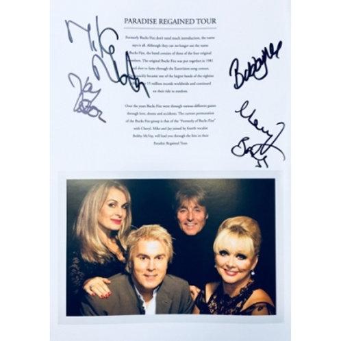 Paradise Regained Tour Programme (Signed)