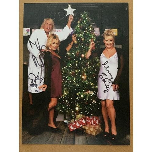 Fizz Christmas photo, signed.