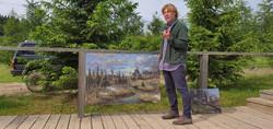 """Картины художника Марка Смирнова продаются на Гремячем ключе. Планируется вскоре и открытие кафе """"Га"""