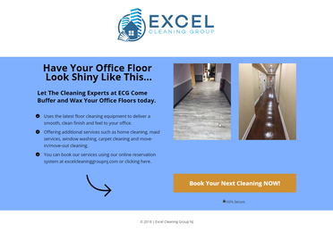 Office Cleaning Landing Page