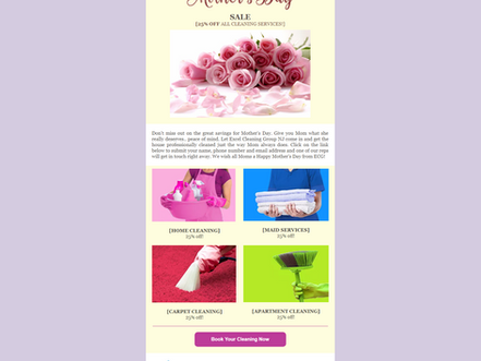 Email #2 - Mother s Day Cleaning Special 25% Off Email