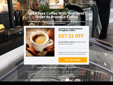 Brunella Coffee Coupon Page
