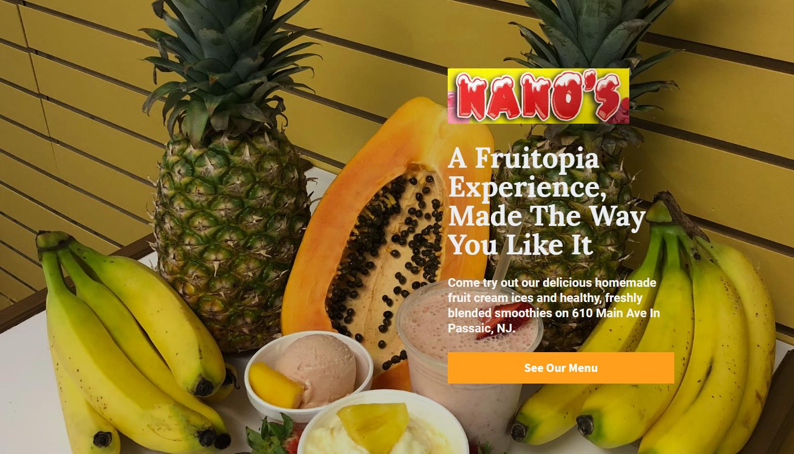 Landing Page # 1 - Nano s Creamery   Inf