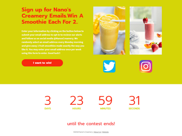 Landing Pge #4 - Nanos Creamery   Win A Smoothie For You   A Friend Opt In Page.png