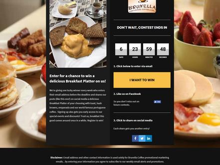 Brunella Coffee Promo Weekly Countdown