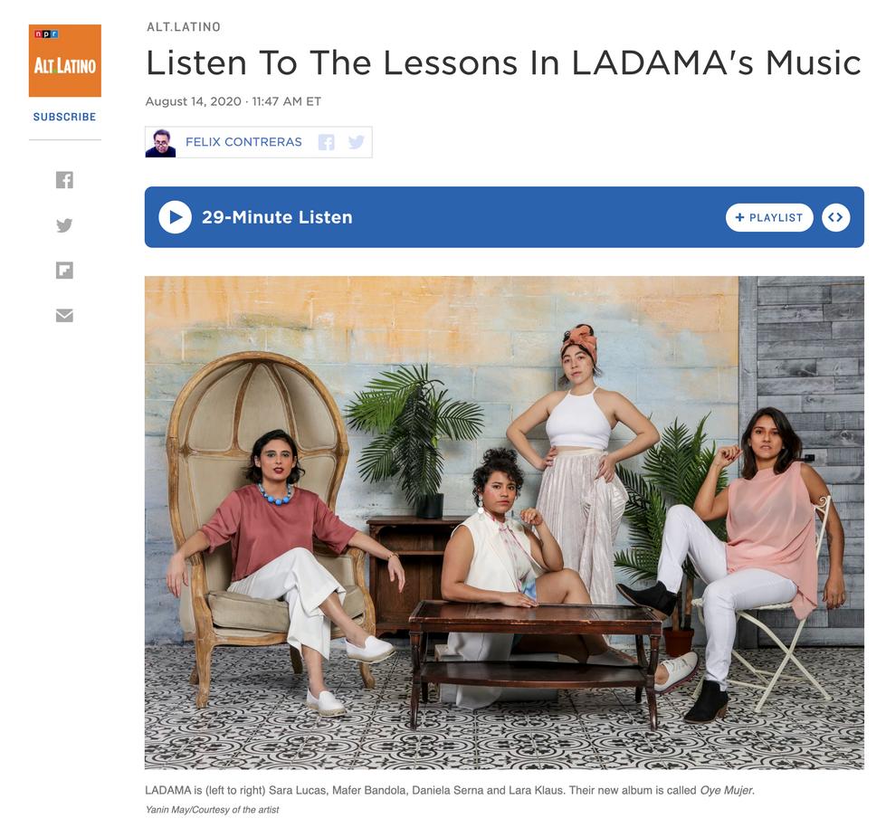 Ladama for Alt. Latino (August 2020)