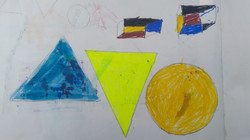 Chanda loves to make colorful shapes
