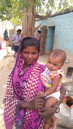 26 years old Gudiya with her baby