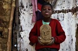 suraj with his clay durga