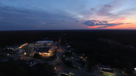 Sunset over Pembroke Center