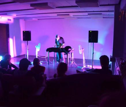 Turbulens - performance for two oscillating fans.   Performed at Scenekunsthus Aarhus oct. 2017.  #Soundart #soundperformance #essbeck #noise #frequencymanipulation #avantgarde #womeninsound #audiodramaturgy