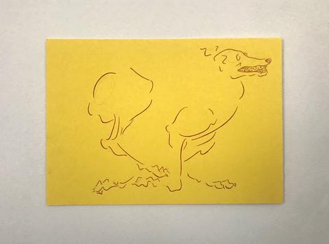 Yellow Greyhound Running (2020)