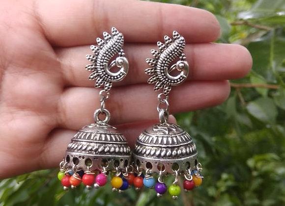 Oxidized earrings Jhumka