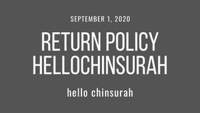 Return policy HelloChinsurah