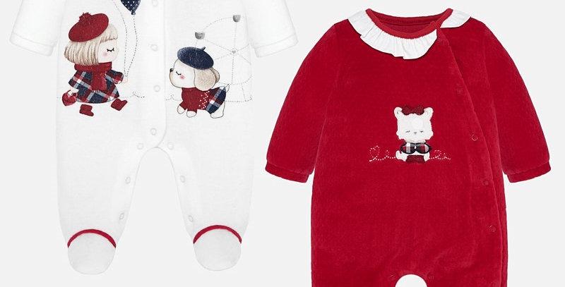 Set pijamale lungi desene bebe fetiță