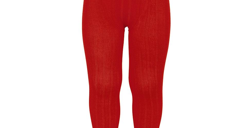 Dresuri din bumbac cu striații - roșu