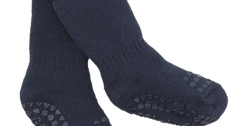 Șosete anti-alunecare din bumbac călduros - bleumarin