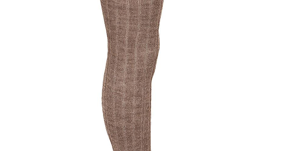 Dresuri cu striații din lână merino - maro