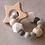 Thumbnail: Jucărie dentiție - gri - cu stea
