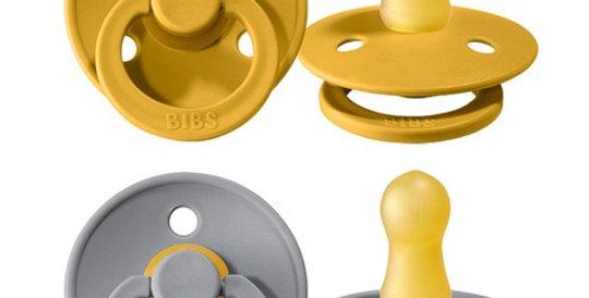 Set suzete Bibs - mustard & cloud