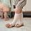 Thumbnail: Șosetă înaltă croșetată, din bumbac - alb