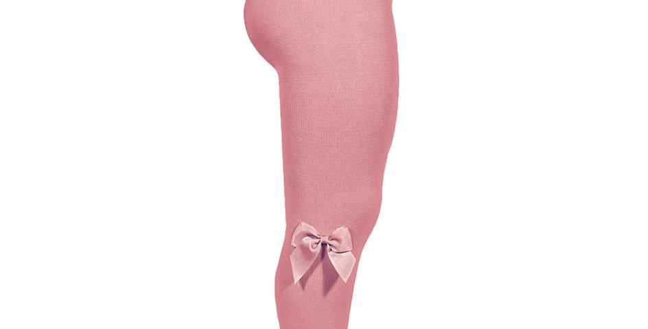 Dresuri bumbac cu fundiță - roz blush