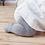 Thumbnail: Ciorapi anti-alunecare din bumbac - gri deschis