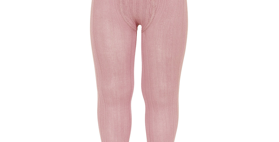 Dresuri din bumbac cu striații - roz pudră