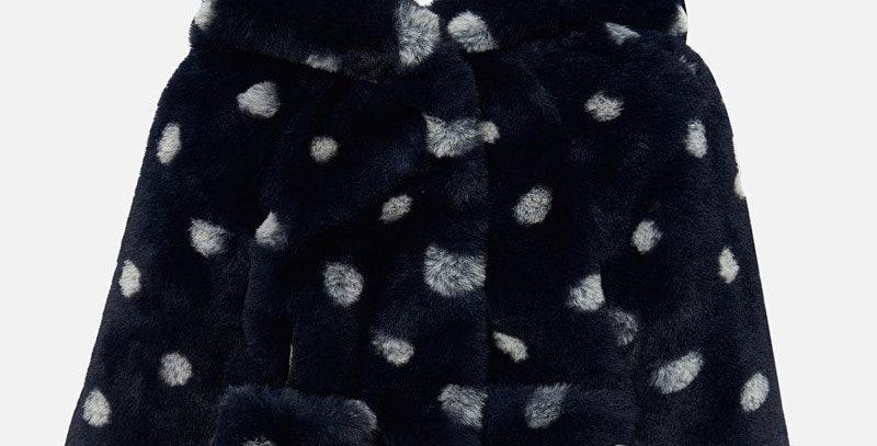 Palton blăniță cu glugă