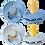 Thumbnail: Set suzete Bibs - sky blue & baby blue