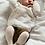 Thumbnail: Dresuri din bumbac cu striații - alb untos