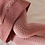 Thumbnail: Dresuri din bumbac călduros, croșetate lateral - teracotă