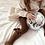 Thumbnail: Dresuri bumbac cu fundiță din catifea - toffee