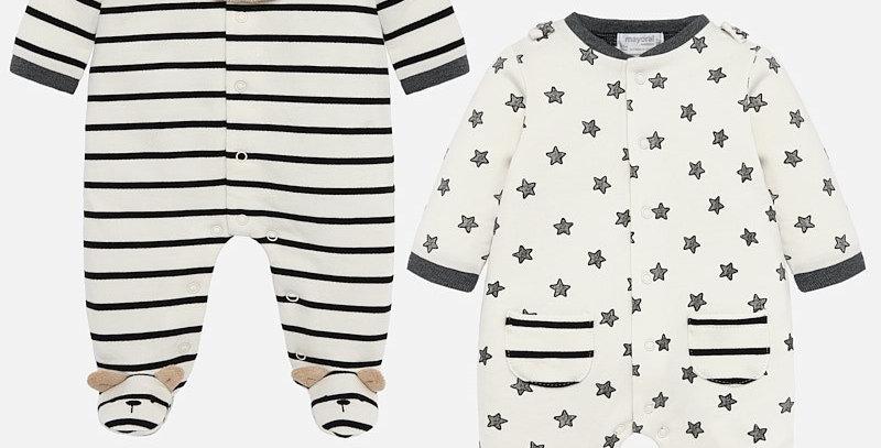 Set pijamale lungi cu ursuleț și steluțe