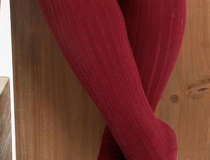 Dresuri din bumbac cu striații - roșu cireașă