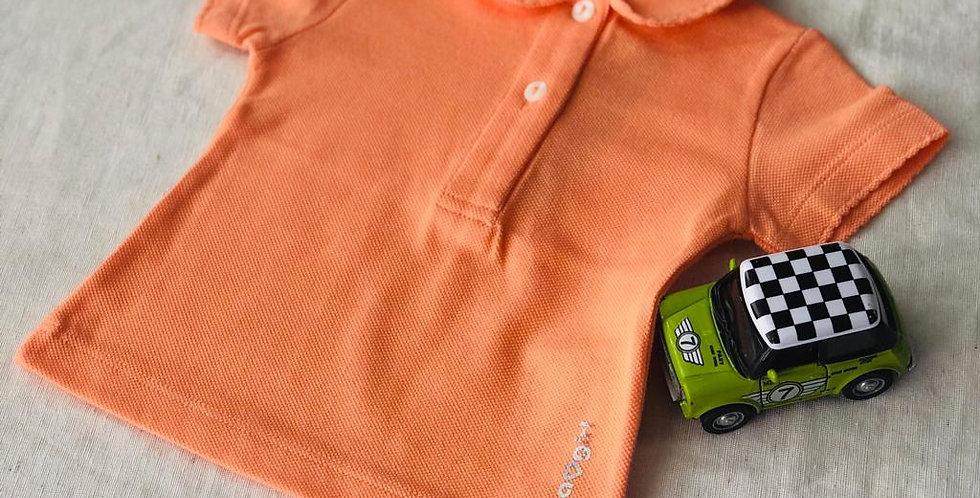 Tricou cu guleraș și năsturei - orange