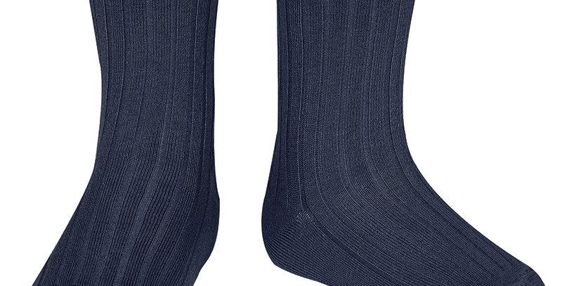 Șosete scurte, cu striații - bleumarin