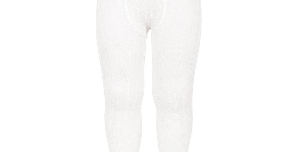 Dresuri din bumbac cu striații - alb