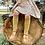 Thumbnail: Șosetă înaltă croșetată, din bumbac - muștar
